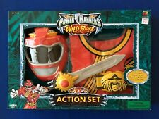 2002 Power Rangers Wild Force Action Set Red Ranger Role Play MISB Sealed