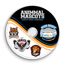 ANIMAL SPORTS MASCOT CLIPART-VECTOR CLIP ART IMAGES +T-SHIRT DESIGN TEMPLATES CD
