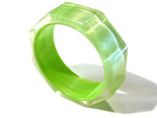 Bijou bracelet  lucite vntage jonc vert transparent bangle