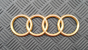 OEM Audi Body/Dash/Trunk Emblem. GOLD color. 18 cm