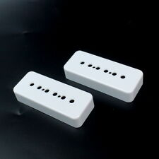 A Pair of P-90 p90 Soap-bar Pickup Covers 50mm/52mm ,White
