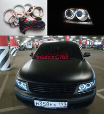 4x LED SMD 7000K Angel Eyes kit Halo Rings For Volkswagen VW Passat B5.5 3BG