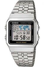 Casio A500WA-1 Fusi Orario Cronometro Allarme Timer Acciaio