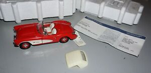 1957 Corvette Red Franklin Mint 1/24 Diecast Used But Great Shape.