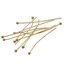 500PCs Gold Plated Ball Head Pins 0.5x30mm Findings