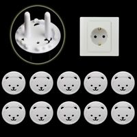 10PCS EU Plug Power Socket Outlet Mains Cover Baby Kids Safety Protector Guard L