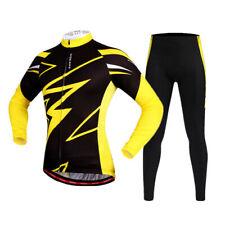 Long Sleeve Cycling Set Bike Jersey Gel Padded Pants For Sport Riding Hiking Run
