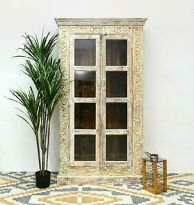 MADE TO ORDER  Maharaja Wooden carvings Wardrobe Cabinet Brown 100 x 40 x 200 cm