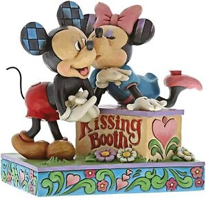 Disney Traditions Kissing Booth Mickey and Minnie Mouse Figurine, Resin, Multi-C