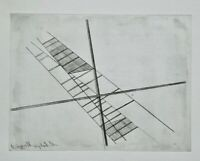 László Moholy-Nagy, Original Gravur 1923/95, signiert, Konstruktion mit Kreuz