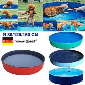 Doggy Pool Hunde Planschbecken Schwimmbecken Schwimmbad Wasserbecken Faltbar DE