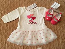 Gymboree- NWT- Love dress and darling bow flats- Baby girl size 0-3 months