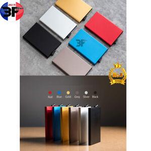 Porte Carte en Aluminium*Porte Carte de Crédit Bancaire RFID*boneuf*3f