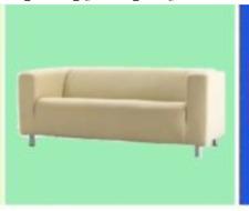 IKEA Klippan Alme Natural 2 Seat Sofa Cover Vanilla Beige Muslin-Look Flecks NEW