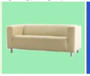 "IKEA Klippan 2Seat LOVESEAT Sofa Cover NEW""Alme Natural""Vanilla Beige MuslinLook"