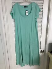 NWT POLO RALPH LAUREN WOMENS FLOOR FULL LENGTH COTTON DRESS L PONY MSRP $98.50