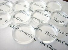 Clear Glass Cabochons Round Cabochons Clear Round Cabochons 25mm 10pcs Flat