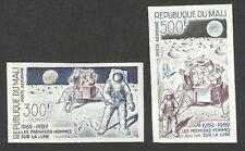 MALI 1989 SPACE MOON LANDING 20TH ANNIVERSARY IMPERF SET MNH