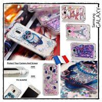 Etui housse coque Paillettes Glitter Case Cover Samsung Galaxy J3 J5 J7 (2017)