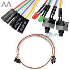 4 in1 PC Power Reset Switch HDD Motherboar LED Cable Red Green Light Cord Kit