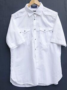 "Fantastic G-STAR RAW Men's White Short Sleeve Shirt size XL / Fit Chest 44"""