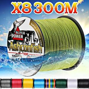 8 strands 300m Super Strong Braided fishing line Japan Multifilament PE braid