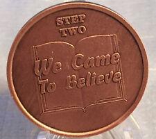 Step 2 Copper Twelve Step Medallion AA NA Recovery 12 Steps Serenity Prayer Chip