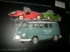 "1:18 Schuco VW t1 furgoneta ""kleinschnittger"" con 2x kleinschnittger f 125 OVP"