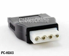 SATA 15-Pin Male to Molex 4-Pin Female Adapter, PC-AD03