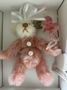 Annette Funicello Mohair Bear Pinky and Binky Pacifier Limited Edition