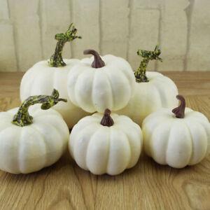 6Pcs Artificial Mini Foam Pumpkin Simulation Props Party Halloween Home Decor UK