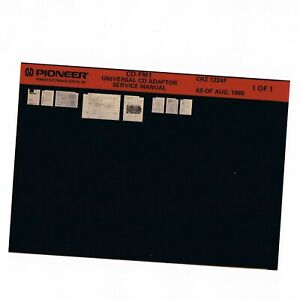 Microfiche from Pioneer Service Manual CRZ 1224 CD-FM1 CRZ 1224F