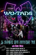 WU-TANG CLAN 12x18 36 CHAMBERS 25TH ANNIVERSARY TEXAS TOUR POSTER LIVE RAP RZA 5