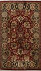 Red Floral Agra Oriental Area Rug Hand-Knotted Dining Room Wool Carpet 6x9