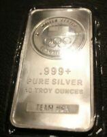 United States Olympic Team .999 Pure Silver 10 oz Bar