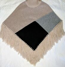 Lorenzo Toasty Warm Wool Poncho - Made in Italy - Small