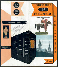 SWAPS VS NASHUA IN 1955 KENTUCKY DERBY HORSE RACING PROGRAM!