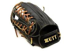 ZETT Pro Model 12.75 inch Left Hand Throw Black Baseball Outfielder Glove +BONUS
