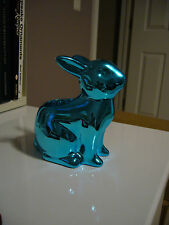 Yankee Candle Teal Easter Bunny Tealight Candle Holder NIB Sold Out