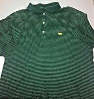 Amen Corner Augusta Masters Golf Polo Shirt Men's Large Stripes Green