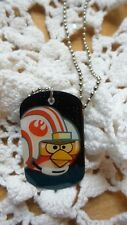 Angry Birds Star Wars Dog Tag Necklace 2012 9/24 Resin Stainless Steel Licensed