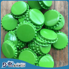 100 Green Crown Seal Bottle Caps, Home Brew, Bottle Top Capper, Brewing Beer