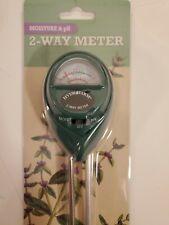 Hydrofarm 2-Way Digital Moisture & PH Meter Tester Soil Plants Garden Light NEW!
