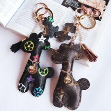 Tassel Floral Flower Giraffe Car Key Chains Pendant Charm for Handbags backpack