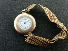 VINTAGE EARLY ELGIN LADIES WRIST POCKET WATCH CONVERSION WWI ERA