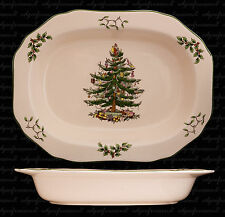 SPODE CHRISTMAS TREE 29cm OPEN VEGETABLE DISH BOXED