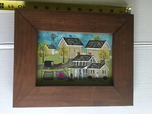 """Dolores Hackenberger Oil on Board Original 5x7 Painting """"Spring Amish Homestead"""""""