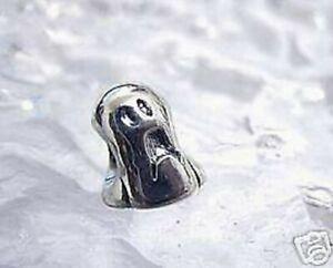 SCARED GHOST Sterling Silver 925 European Halloween Bracelet BEAD Charm jewelry