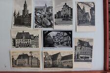 29211 9 Foto- AK vom Heilbronn Neckar Gebäude Markt Rathaus usw. um 1939