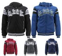 Men's Los Angeles Sherpa Lined  Athletic  Sports Fleece Zip Up LA Hoodie Jacket